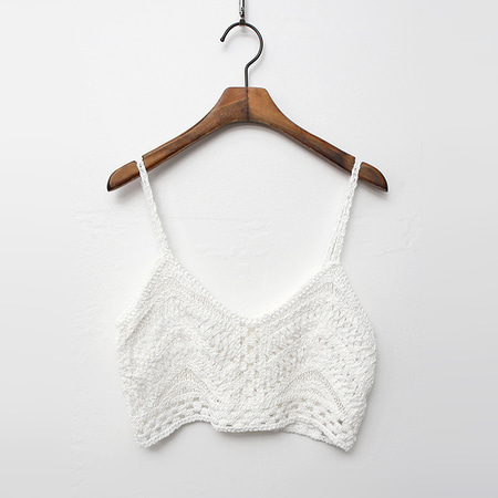 Bustier Crop Knit