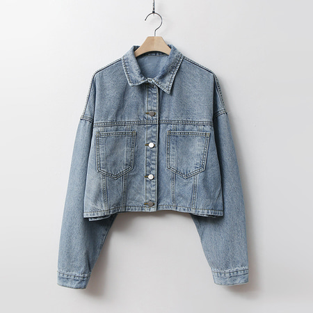 Denim Tree Crop Jacket