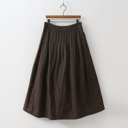 Cotton Padding Full Long Skirt