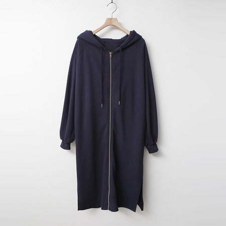 Spring Hooded Zip-Up Long Jumper