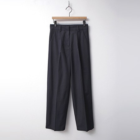 Cotton Pintuck Wide Pants
