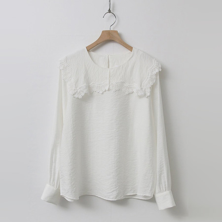 Lace Square Collar Blouse