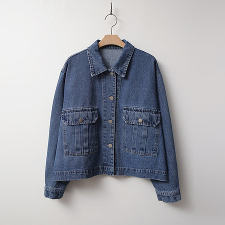 Pocket Crop Denim Jacket